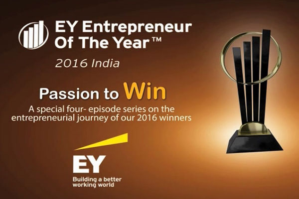 Entrepreneur of the Year award by Ernst Young India to Shri H. M. Bangur, Managing Director, Shree Cement Ltd.: