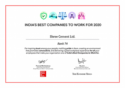 India's Top 100 Places To Work For by GPTW India ® 2020