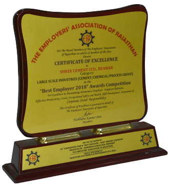 Best Employer 2018 by The Employers Association of Rajasthan