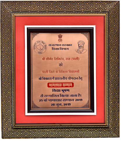 Bhamashah Samman 2019 for CSR by Govt. of Rajasthan