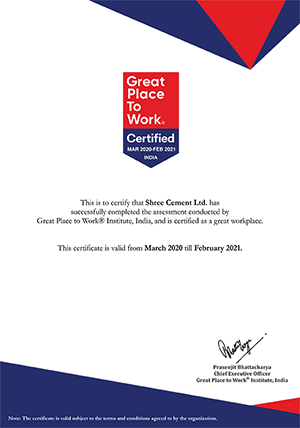 Great Place to Work Certified by GPTW India ® 2020