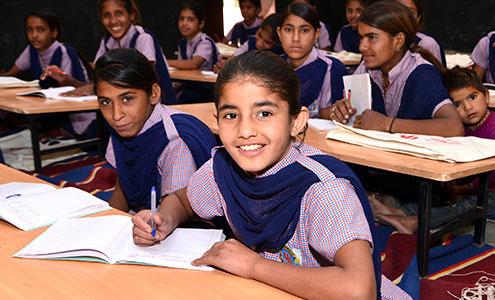 Students at Shree Ki Pathshala