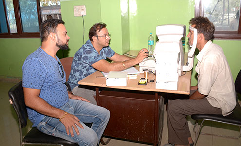 Eye and dental health check-up camps