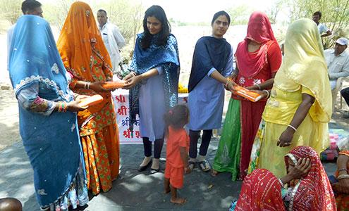 Menstrual health awareness and sanitary napkin distribution