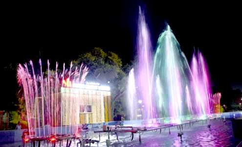 Musical fountain in  Central Park, Jaipur