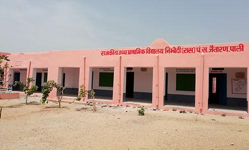 Renovation of government school, Nimbeti Village, Rajasthan